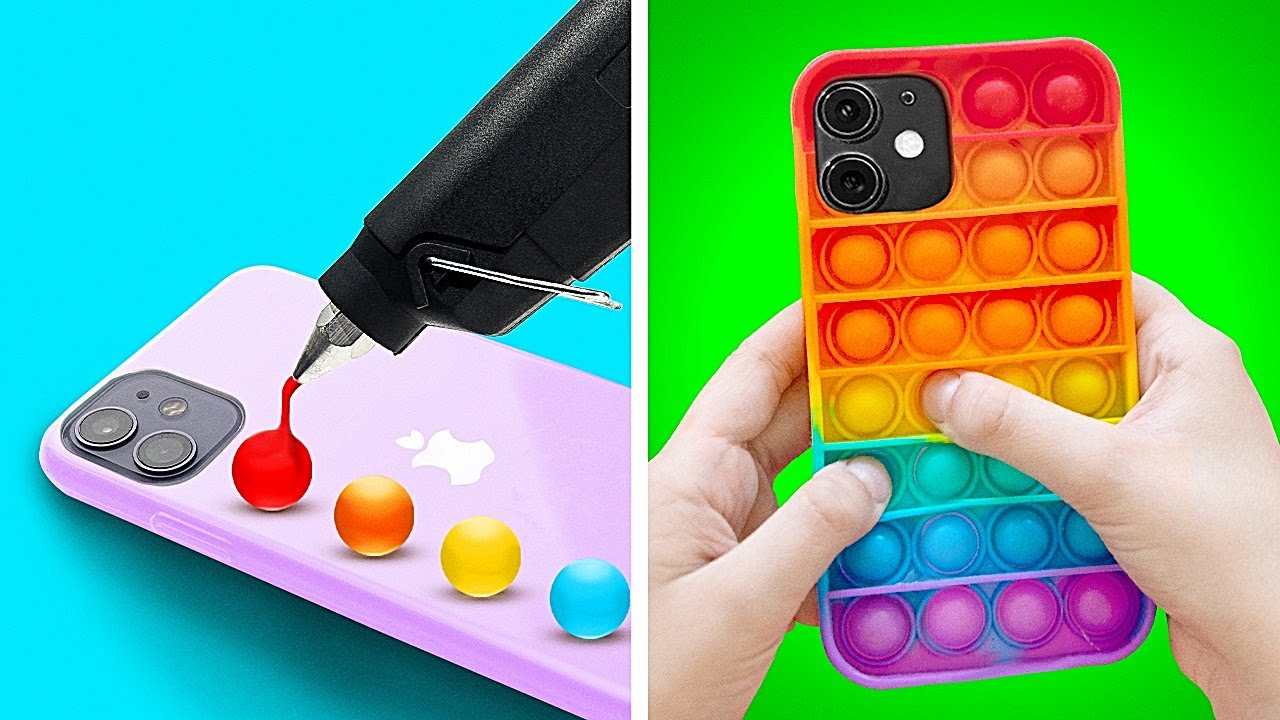 Download TRENDY TIKTOK PHONE CASE IDEAS | POP IT! | Creative DIYs and Crafts To Try!