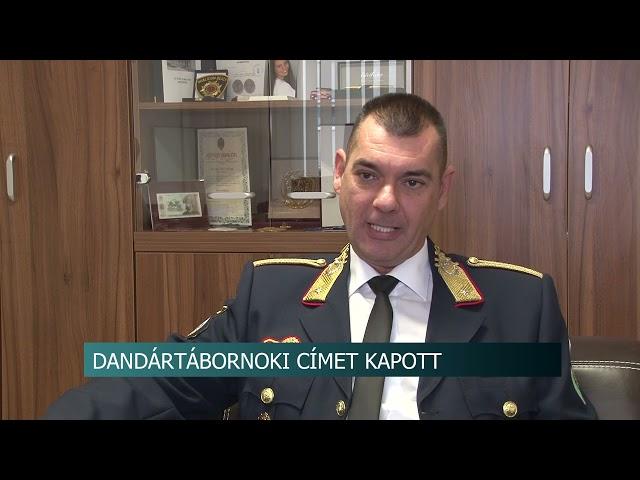 Dandártábornoki kinevezést kapott Balázs Gábor a TM. Katasztrófavédelmi Igazgatóság vezetője