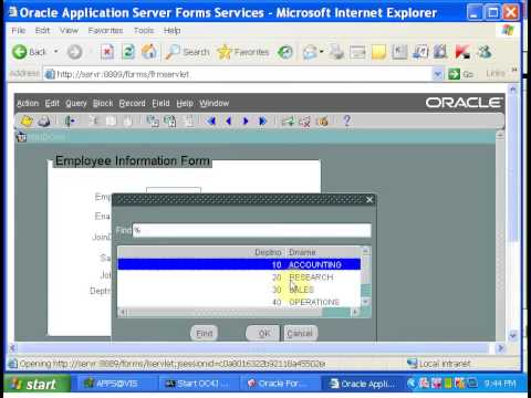 Oracle Apps Tutorial-1:Oracle Forms Development Video tutorial