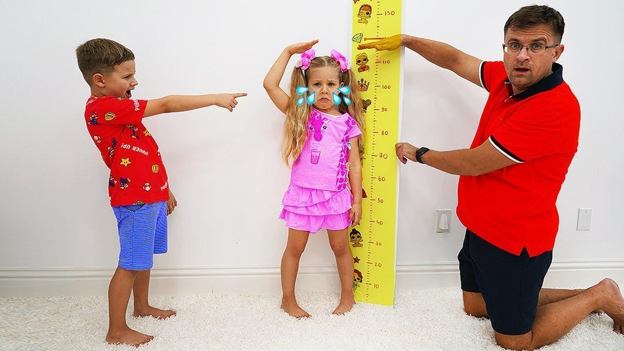 Diana muốn cao hơn để được nhảy trên tấm bạt lò xo
