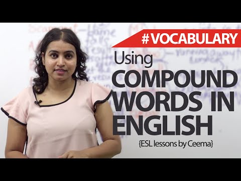 Compound words in English – English Vocabulary & Grammar Lesson