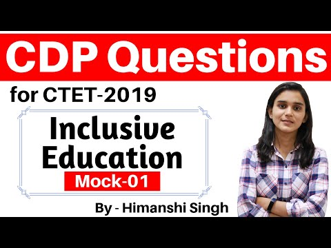 Inclusive Education Important Questions for CTET-2019 | Mock Test-01