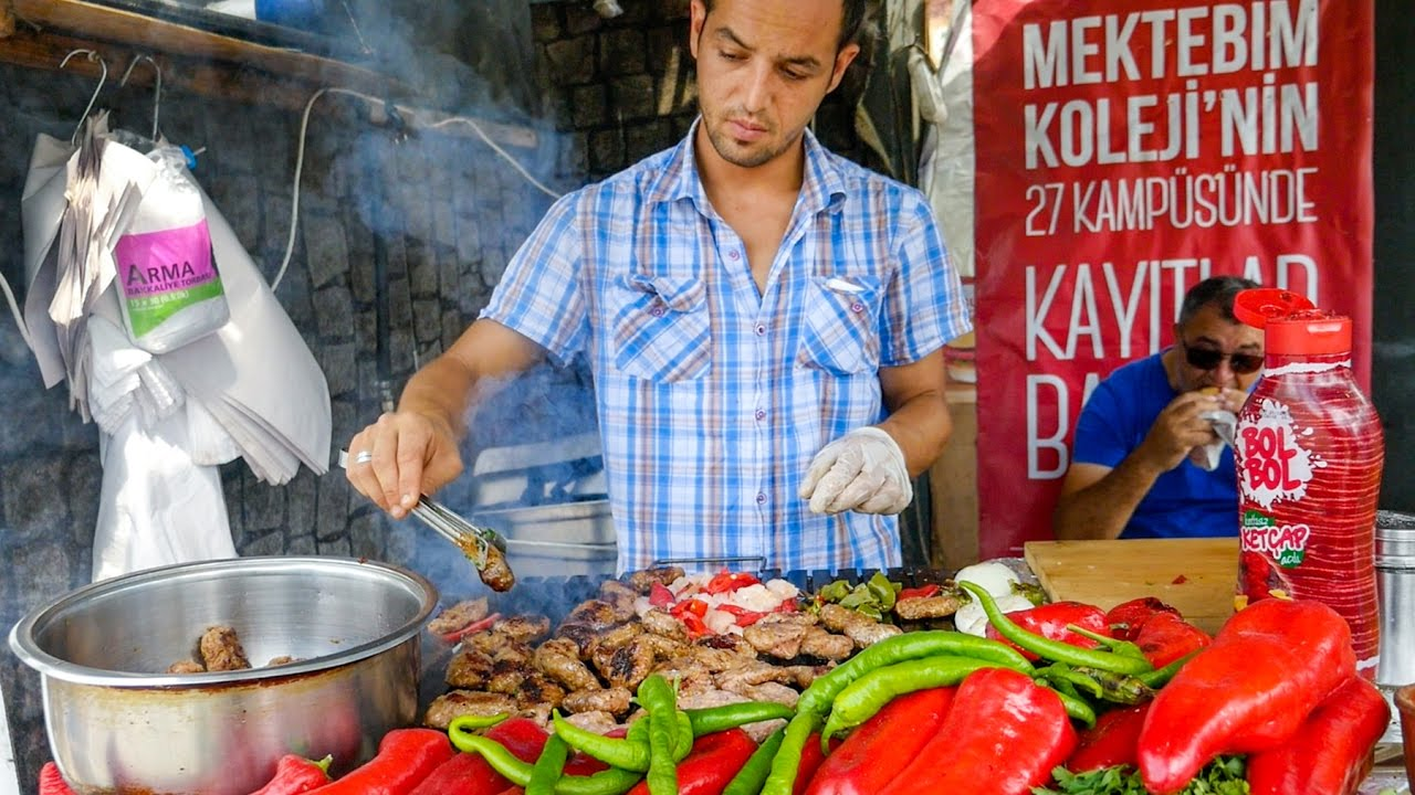Istanbul Street Food Delicious Turkish Kofte And