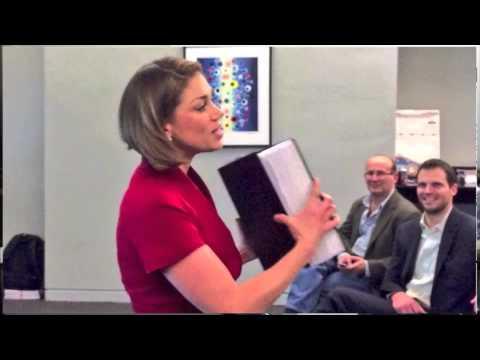 Julia Ellis, Office of City Clerk, speaks at OpenGov Chicago