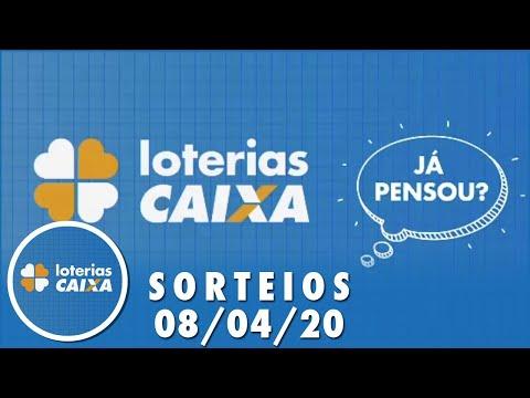 Loterias Caixa: Mega-Sena, Quina e Lotofácil 08/04/2020