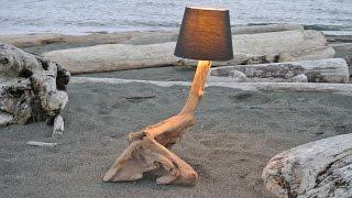Driftwood Lamp- Westcoast Art  **Teaser video**