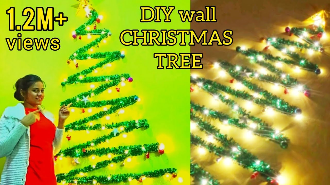 Diy Wall Christmas Tree Youtube