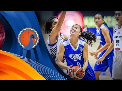 Thailand v Chinese Taipei - Class. 5-8 - Full Game - FIBA U16 Women's Asian Championship 2017