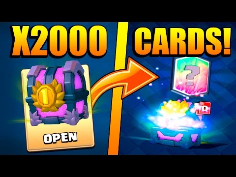 OPENING THE ''BEST CHEST'' IN THE WORLD! :: Clash Royale :: X2000 CARDS IN ONE CHEST AND A LEGENDARY