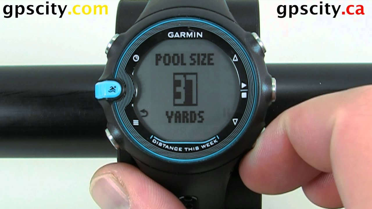 Setting The Pool Size In The Garmin Swim Training Watch Youtube