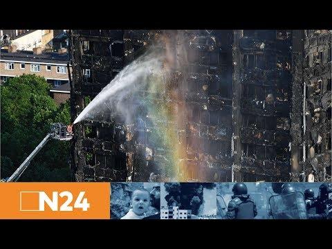 N24 Nachrichten - Inferno von London: Feuerwehr unterbricht Suche