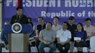 At Yolanda anniversary, Duterte teases Robredo about short skirt