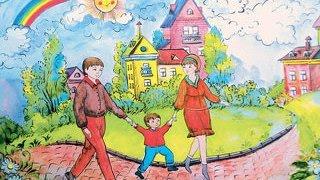 У ВР громадянська ініціатива ''Відновлення Донбасу'' організувала виставку дитячих малюнків. #UBR