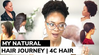 My Natural hair Journey: Heat damage, Hair cut, Relaxer, natural hair - 12 years in my 4C hair