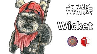Star Wars: Ewok Wicket - Speed Drawing