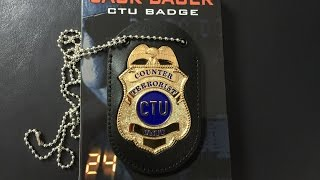 24 JACK BAUER CTU BADGE