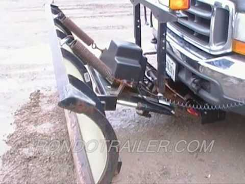 Used 7 5 Sno Way snow plow with down pressure SOLD YouTube