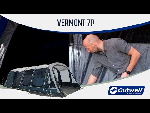 Outwell Vermont 7P - Steel Poled Tent (2020) | Innovative Family Camping