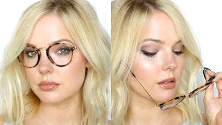 makeup for glasses   makeup tutorial