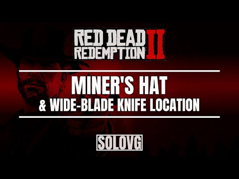 RED DEAD REDEMPTION 2 - Miner's Hat Location (Hands Free Light!) | Wide-Blade Knife Location
