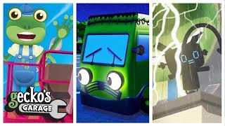 Gecko's Spooky Stories - Not Just For Halloween!|Gecko's Garage|Fun Learning At Home|Trucks for Kids