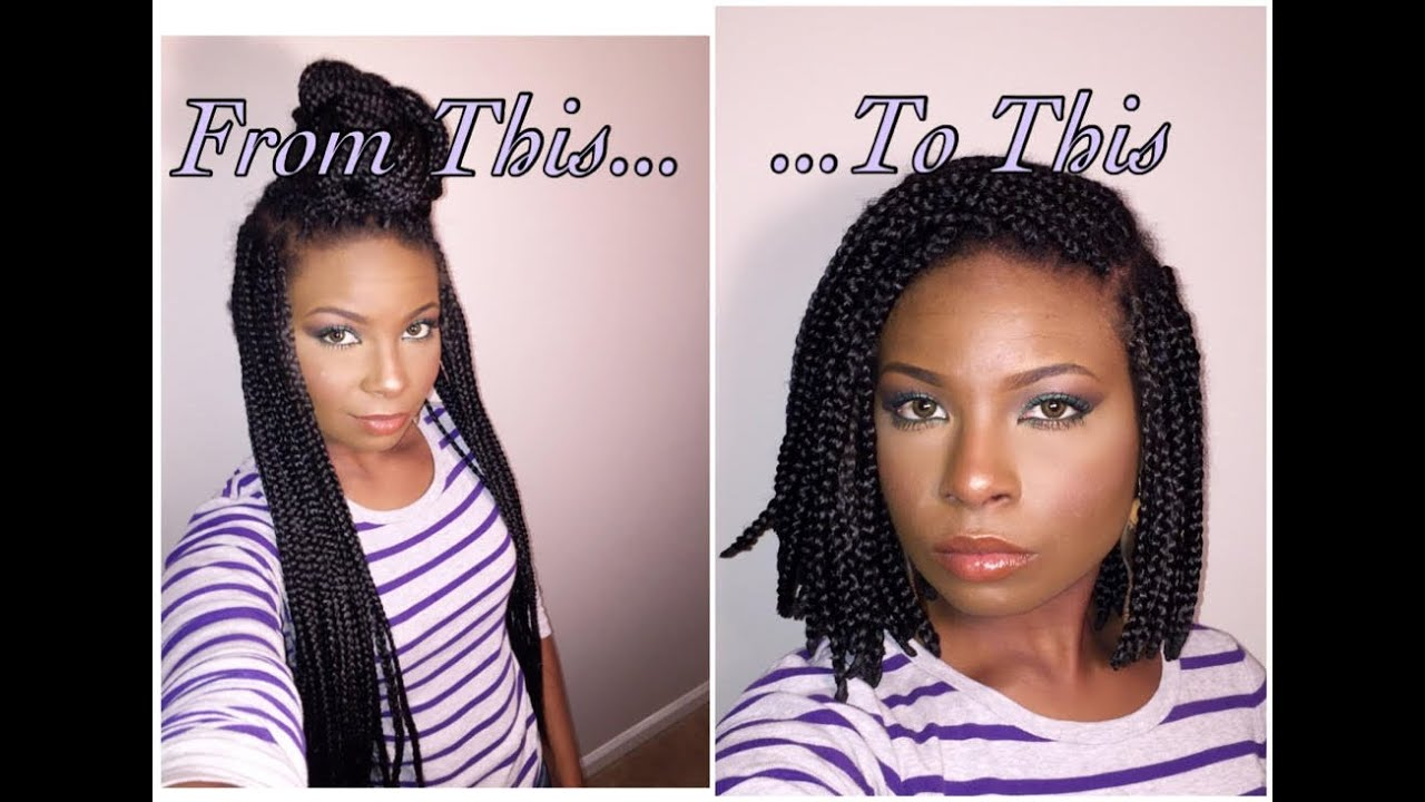How To From Box Braids To Bob Youtube