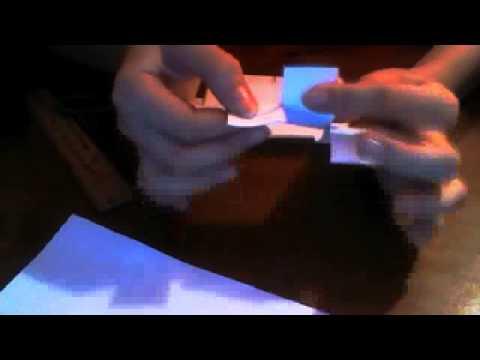 кубик рубик из бумаги!