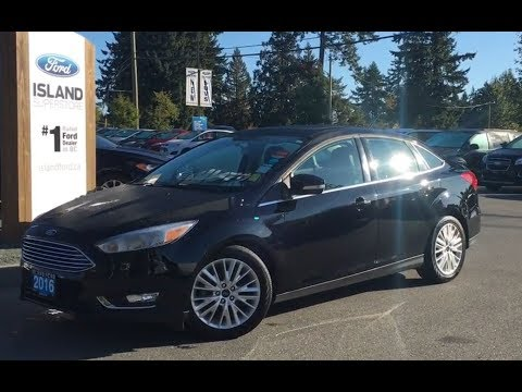 2016 Ford Focus Titanium, Leather, Heated Seats W/ Nav Review|Island Ford