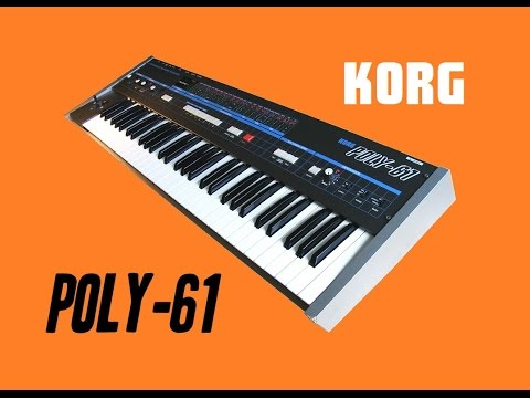 KORG POLY-61 Analog Synthesizer 1983 | DEMO I NEW PATCHES