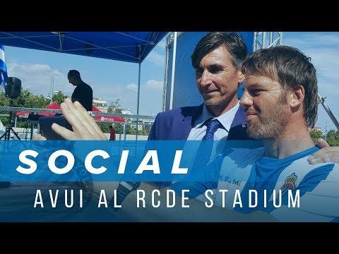 AVUI AL RCDE STADIUM: Moisés Arteaga, Iván Alonso i Joan Tena