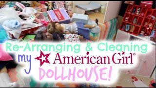 Summer Cleaning My American Girl Dollhouse VLOG!