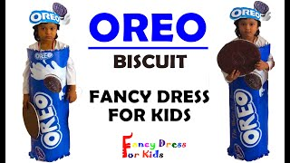 OREO BISCUIT FANCY DRESS/HOW TO MAKE/DIY/ADVERTISEMENT THEME FANCY DRESS FOR KIDS/used plastic bag