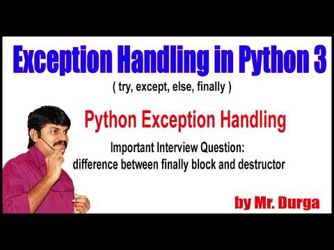 Python Tutorials || Python Exception Handling ||  difference between finally block and destructor thumbnail
