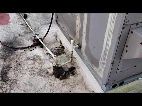 Service Call 8 30 2017 Roof vs AC unit water leak