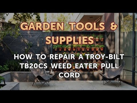 How To Repair A Troy Bilt Tb20cs Weed Eater Pull Cord