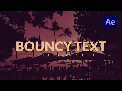 Bouncy Text Characters Animation In After Effects