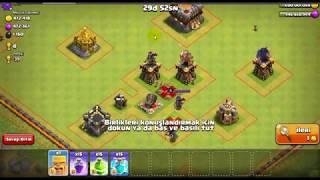 Clash Of Clans hileli (1 barbar 15 klon 15 öfke 5 atlama büyüsü