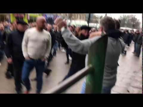 Thumbnail: Millwall fan punches Spurs fan with a Hayemaker!!!!