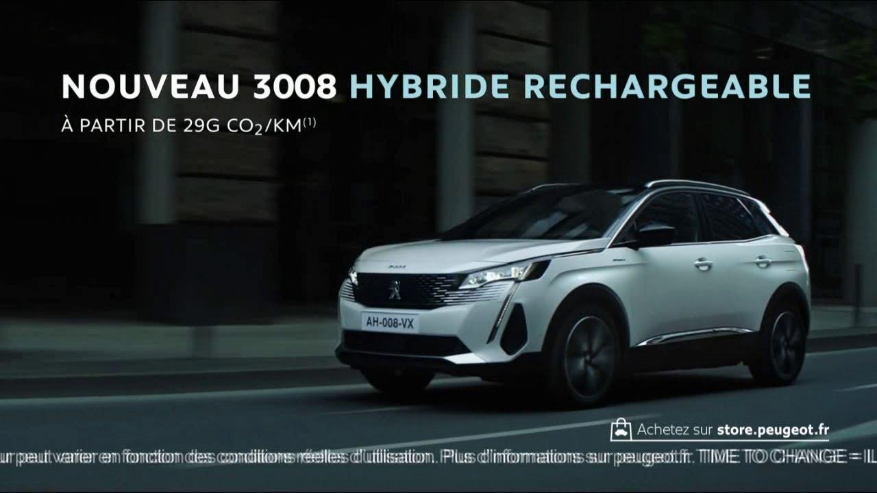 """Musique de la pub Nouveau Peugeot 3008 hybride rechargeable """"Time to change""""  Mai 2021"""