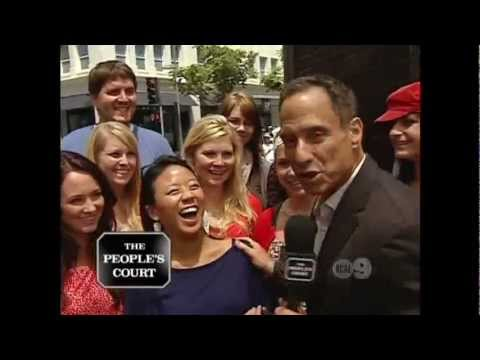 Harvey Levin Smacks girl in the head with a microphone!