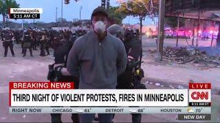 Morte George Floyd, troupe Cnn arrestata in diretta durante le proteste a Minneapolis