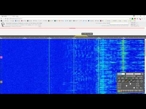 Taiwanese V13 number station at 9725 kHz (S2 through moderate static)