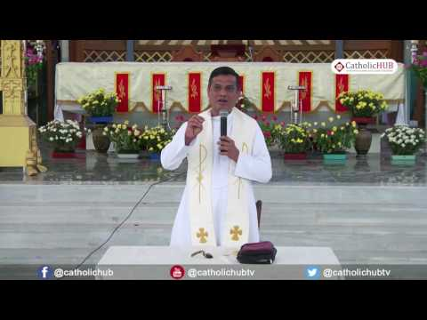"""Pray Incessantly"" by Rev.Fr.Syril SVD@Infant Jesus Cathedral,Salem,TN. 26-05-17"