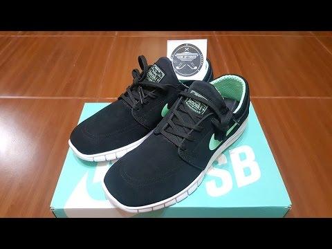 694c3a8f7a1 Unboxing - Nike SB Stefan Janoski Max Black Green Glow Tiffany - YouTube
