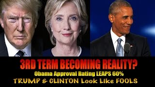 OBAMA Approval Rating LEAPS UP! Trump & Hillary Setup as FAILURES for USA by Media