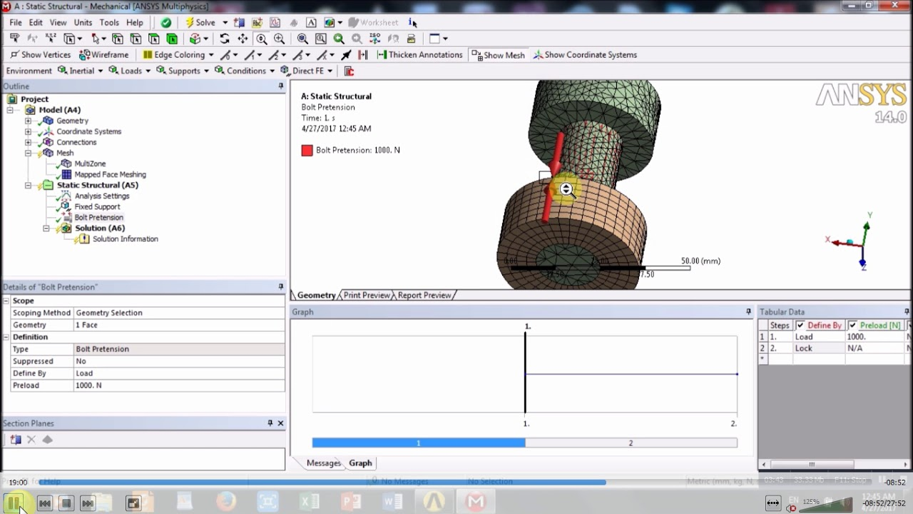 Ansys-Design of a Bolted Connection | GrabCAD Tutorials