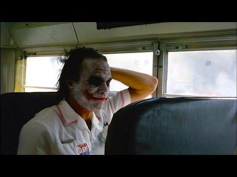 Joker in the Bus 'The Dark Knight' Deleted Scene