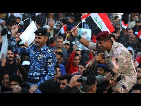 العراق: عرض عسكري في بغداد للاحتفال بالنصر على تنظيم -الدولة الإسلامية-