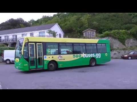 GUERNSEY BUS EAST LANCS DENNIS DART DM18 AT PLEINMONT TERMINUS