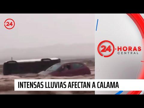 Intensas lluvias afectan a sectores cercanos a Calama